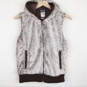 Patagonia Conejo Fleece Fuzzy Hooded Vest